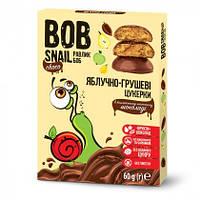 Конфеты натуральные Яблоко-груша в бельгийском молочном шоколаде Bob Snail 60 гр. 1740493