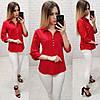 Блузка женская 828 (42 44 46 48) (цвета: красный,голубой,бутылка, зеленый,черный,бордо, электрик) СП