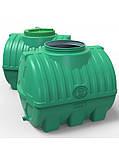 Емкость пластиковая горизонтальная 200 литров трехслойная, фото 3