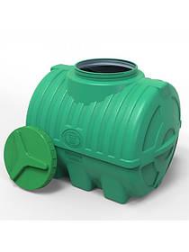 Емкость пластиковая горизонтальная 200 литров трехслойная