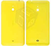 Задняя панель корпуса для Nokia Lumia 1320, c боковыми кнопками, желтый, оригинал