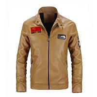 Мужская кожаная куртка. Модель 61112, фото 9