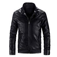 Мужская кожаная куртка. Модель 61112, фото 10