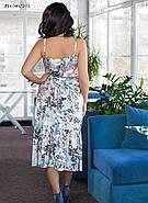 / Размер 44,46,48,50,52,54 / Женское летнее шелковое платье прямого силуэта на тонких бретелях, фото 2