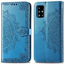 Кожаный чехол (книжка) Art Case с визитницей для Samsung Galaxy A71