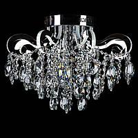 Хрустальная люстра СветМира на 3 лампочки со встроенной LED подсветкой рожков VL-2735/3+8 LED