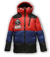 Пуховик для мальчика- пух 80% перо 20%. Есть измеритель температуры внутри куртки.