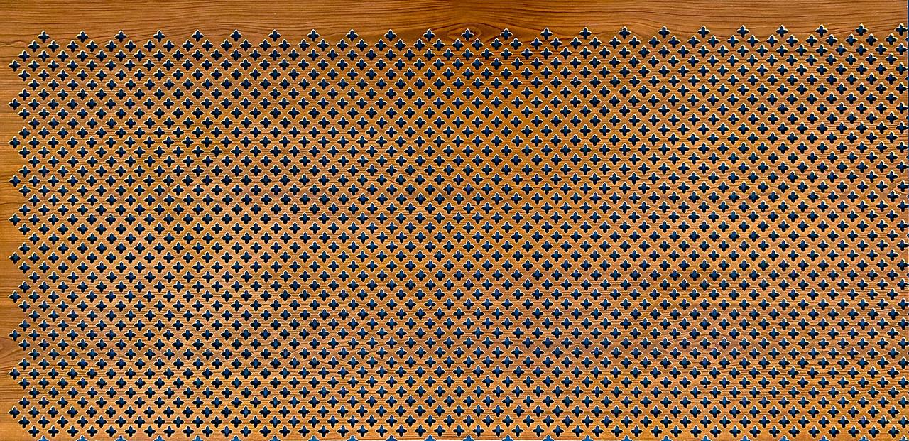 Панель (решетка) декоративная перфорированная, цвет лесной орех, 1390 мм х 680 мм Роял