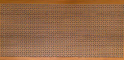 Панель (решетка) декоративная перфорированная, цвет лесной орех, 1390 мм х 680 мм Эфес