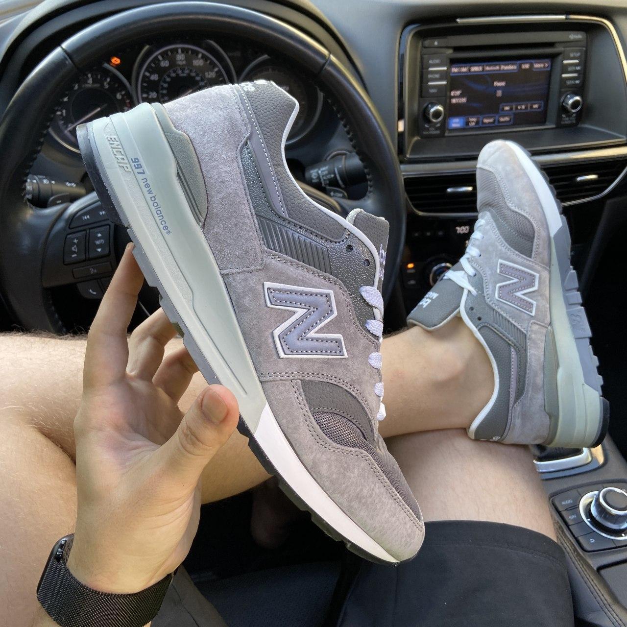 Кроссовки мужские New Balance 997 Gray. Стильные мужские серые кроссовки. .