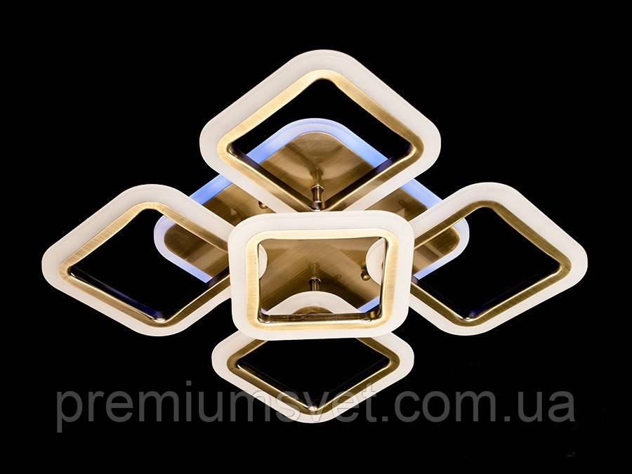 Світлодіодна люстра, колір коричневий MX2400/4+1S CF LED 3 color dimmer