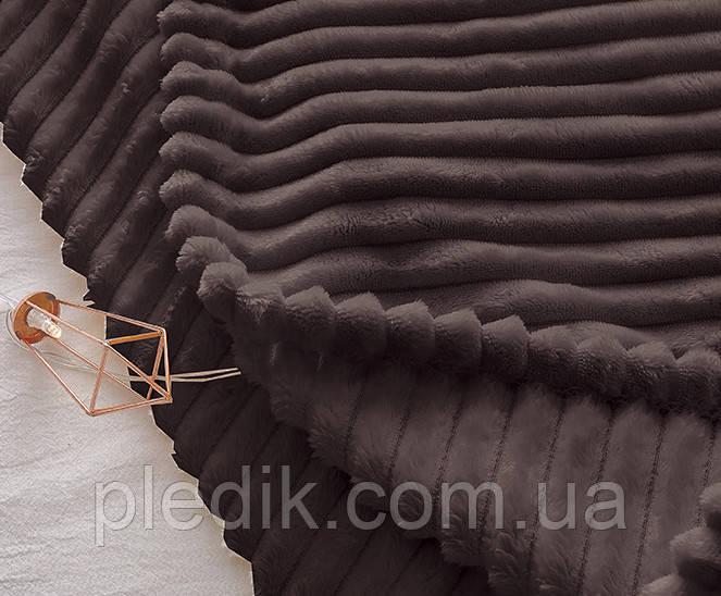 Плед велсофт (мікрофібра) 160х220 коричневий ALM1934