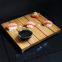 """Тарелка Гета для суши """"Терраса"""" 220 мм х 185 мм х 20 h мм"""