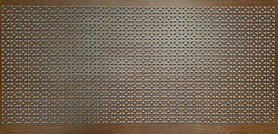 Панель (решетка) декоративная перфорированная, цвет венге, 1390 мм х 680 мм