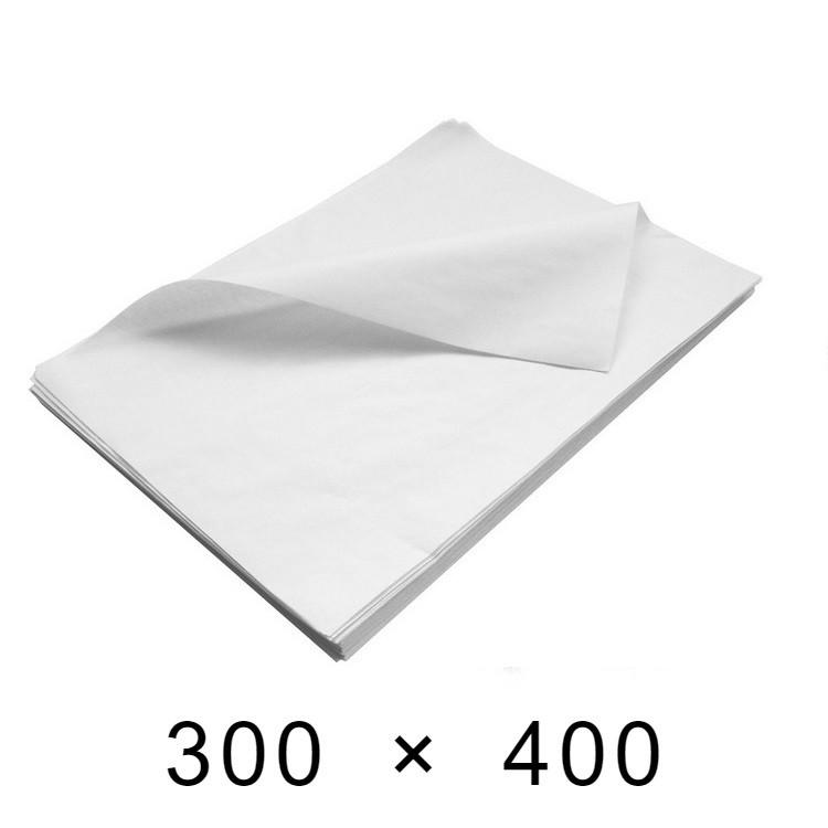 Крафт-бумага белая в листах 40 грамм - 300 мм × 400 мм / 500 шт