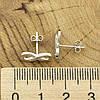 Серебряные серьги гвоздики ТС9520072б размер 12х6 мм вставка белые фианиты вес 1.03 г, фото 3