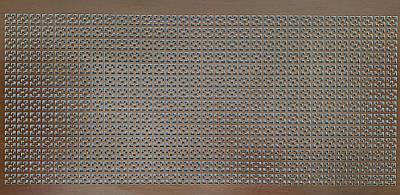 Панель (решетка) декоративная перфорированная, цвет венге, 1390 мм х 680 мм Эфес