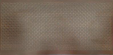 Панель (решетка) декоративная перфорированная, цвет венге, 1390 мм х 680 мм Сити