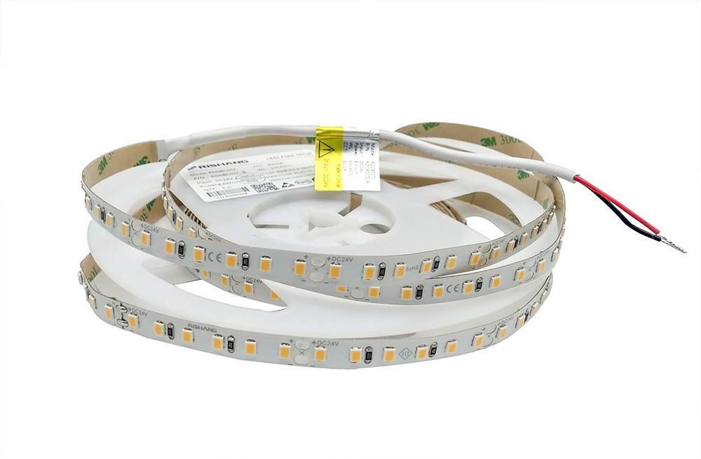 Світлодіодна стрічка  24вольт 8.6Вт 745лм теплобіла 2835-120-IP20-WW-8-24 RD08C0TC-B 3000K CRI90 Рішанг 13253
