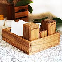 """Сервировочный деревянный набор для специй """"Зе Паб"""", дуб"""