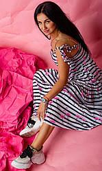 Сарафан с принтом фламинго