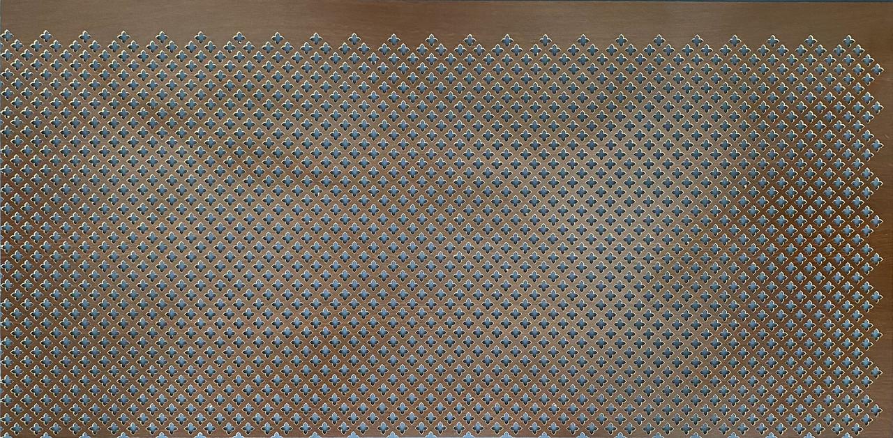 Панель (решетка) декоративная перфорированная, цвет венге, 1390 мм х 680 мм Роял