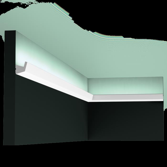 Карниз, молдинг для скрытого освещения CX189,д 200 x в 2,7 x ш 2,7 см