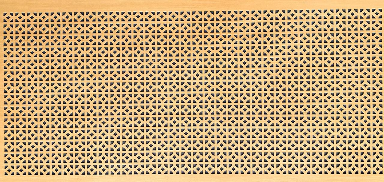 Панель (решетка) декоративная перфорированная, цвет бук, 1390 мм х 680 мм
