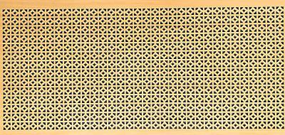Панель (решетка) декоративная перфорированная, цвет бук, 1390 мм х 680 мм Эфес