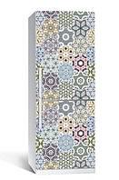 Самоклеющаяся виниловая пленка наклейка на холодильник IdeaX Геометрический орнамент 65х200 см