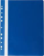 Скоросшиватель Buromax А4 синий Profesional усы, бок. перфорация, PP (BM.3331-03)