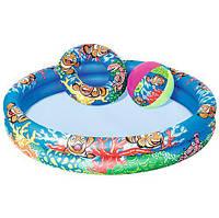Детский бассейн Подводный мир, Bestway+мяч и круг