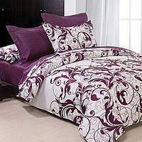 Комплект постельного белья Вилюта 8624 полуторный Белый с фиолетовым (hub_ZPtO21673)