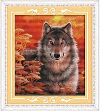 Набор для вышивания крестиком NKF Волк  D310 14ст