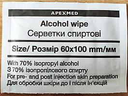Спиртовая салфетка 100х60 мм  (20шт)