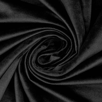 Оксамит тканина. Велюр. Колір чорний. Пагон 1,5 метра, фото 2