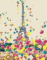 Набор картина по номерам Rosa Start техника акриловая живопись стандарт Яркий Париж 35х45см (4823098