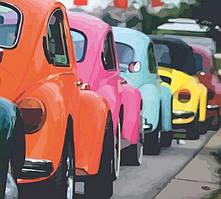 Набор картина по номерам Rosa Start стандарт Яркие ретро автомобили 35х45см (4823098514121)