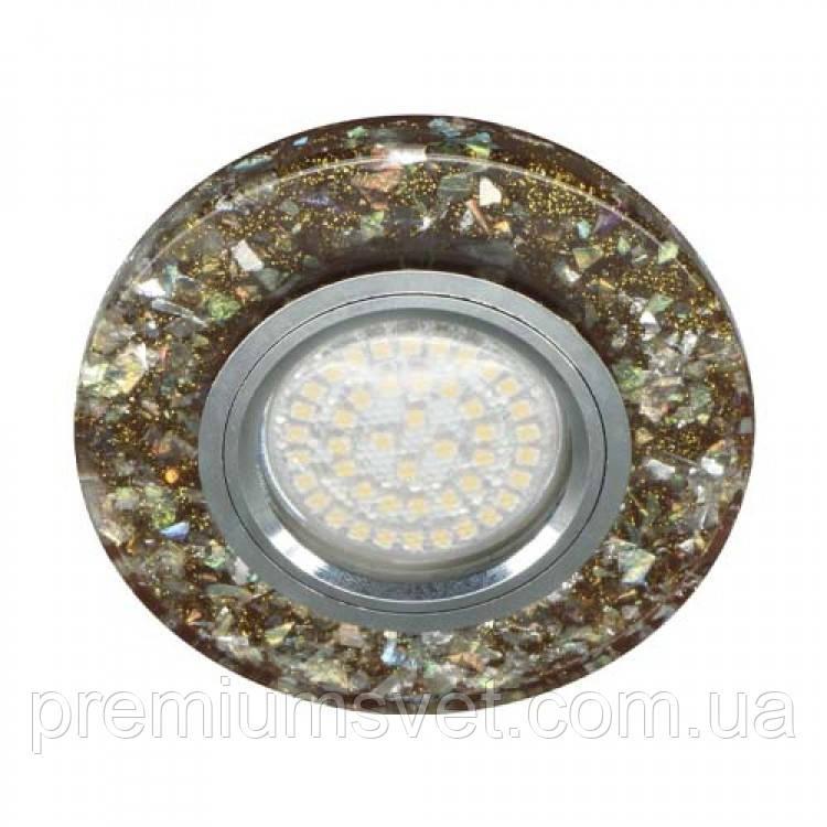 8585-2 MR16 мерехтливий коричневий серебро з led