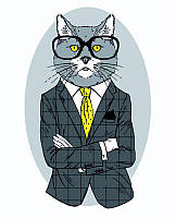 Набор картина по номерам Rosa Start стандарт Fashion Cat 35х45см (4823098514275)