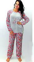 Женская махровая теплая пижама ― красивая и уютная женская домашняя одежда. Опт, розница. Украина.