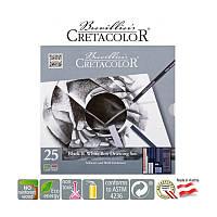Набір художній Cretacolor BLACK&WHITE для графіки 25 предметів в металевому пеналі (9014400252816)