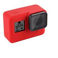Чехол TELESIN для GoPro HERO5/6/7 TPU Silicone Case (Red) [34649]