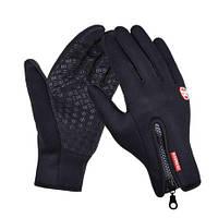 Перчатки для сенсорных экранов B-Forest Touch Screen Gloves With Zip Black (L)