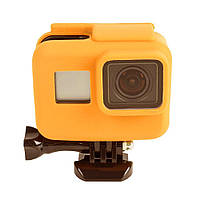 Чехол силиконовый на рамку TELESIN для GoPro HERO5/6/7 TPU Silicone Case (Orange)
