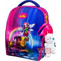 Рюкзак-ранец школьный каркасный с мешком для сменной обуви пеналом и мягкой игрушкой DeLune 7mini-017