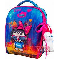 Рюкзак ранец школьный каркасный с мешком для сменной обуви пеналом и мягкой игрушкой DeLune 7mini-016