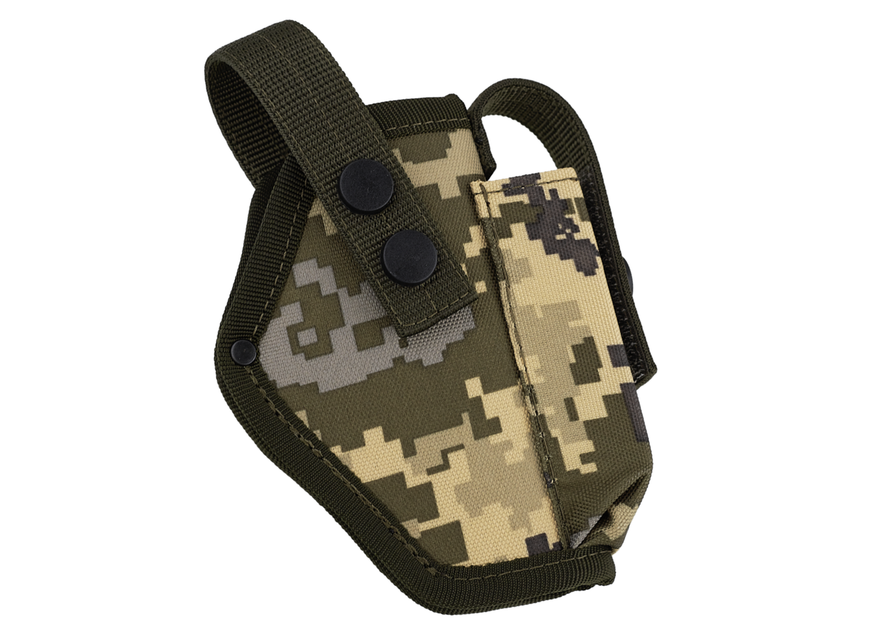 Кобура Форт-17 поясная с чехлом под магазин (Oxford 600D, пиксель)