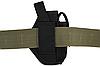 Кобура поясная Форт-12 ЛЕВША с чехлом под магазин (Cordura, чёрная), фото 3