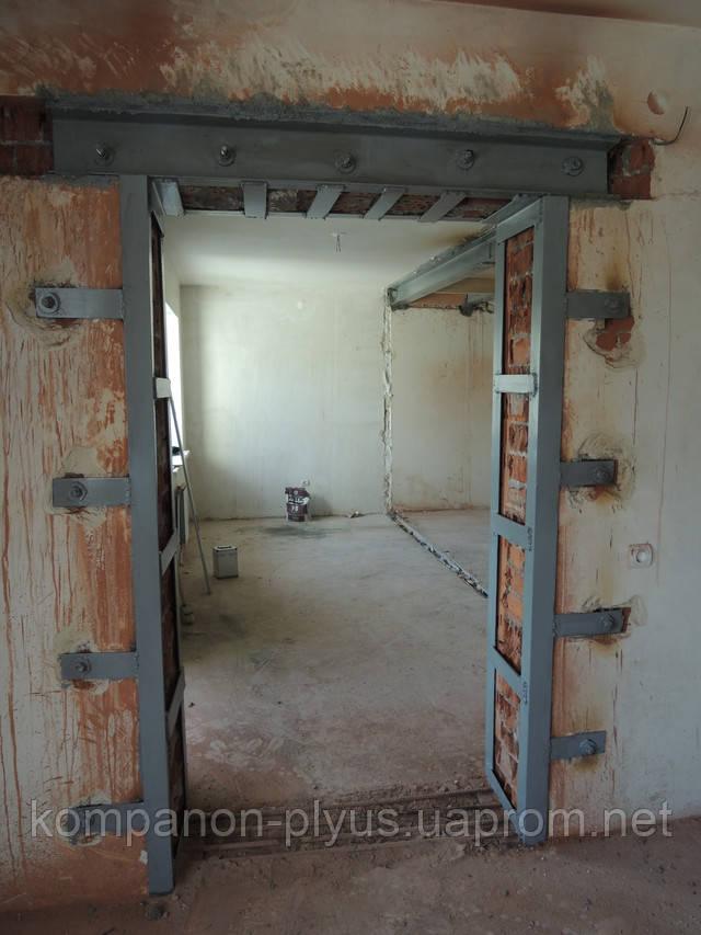 Отвори в цегельній стіні з посиленням